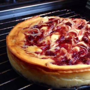 Cranberry Rippled Cheesecake (6)
