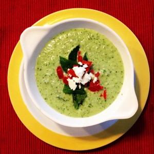 Cold cucumber soup.