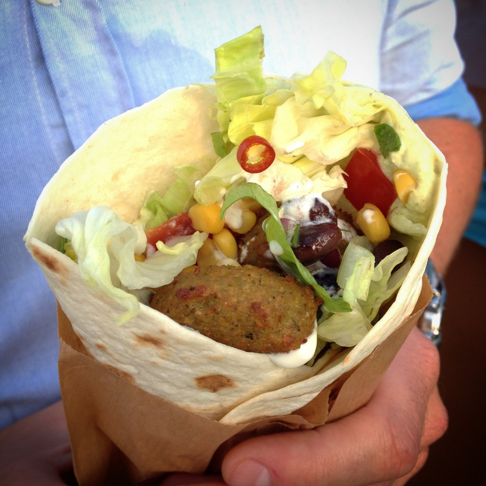 Falafel wrap by Wheely Good
